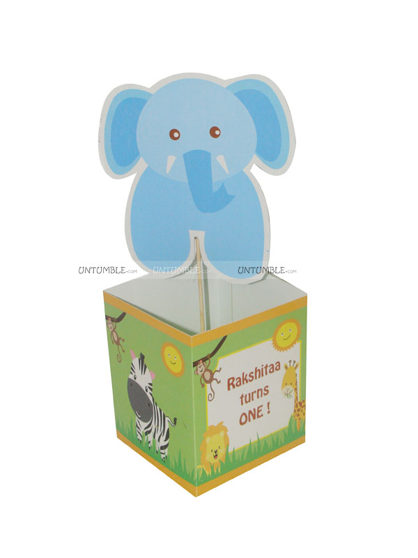 Baby Jungle Birthday theme Center pieces