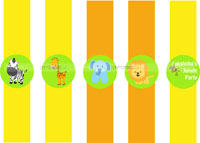 Baby Jungle Birthday theme Wristbands