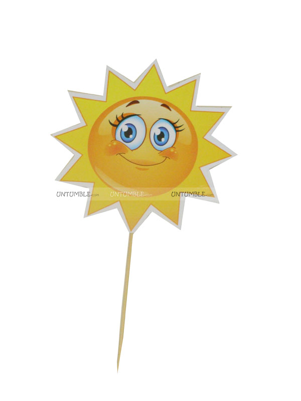 Sunshine BabyShower theme Cup cake toppers