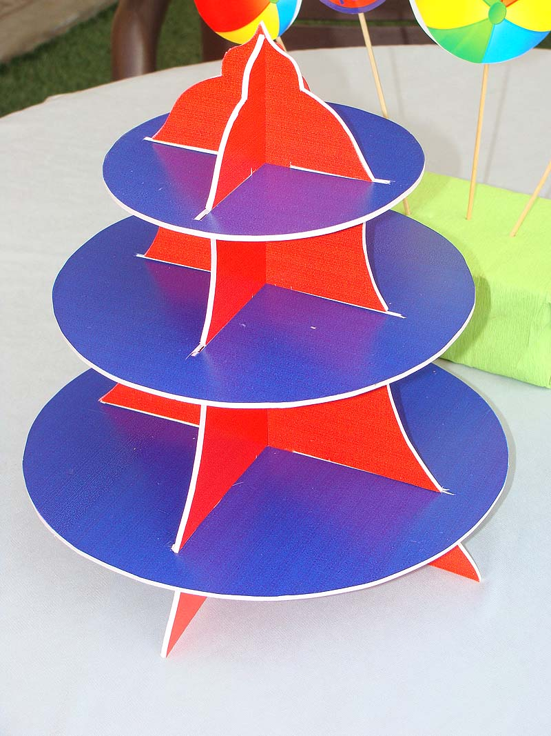 Ball Party Supplies theme Cup cake stands