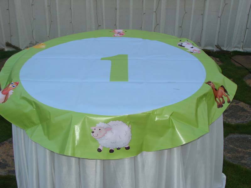 Green Cake table cover