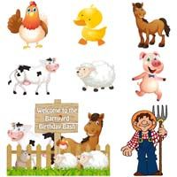 Kit of Barnyard wall cutouts