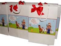 Barnyard birthday theme Stickered gift bags