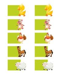 Barnyard animal shaped wish tree tags (Pack of 10)