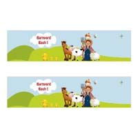 Barnyard Birthday theme Water bottle wrappers
