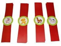 Barnyard Birthday theme Wristbands