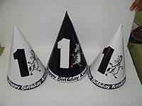 Black and White Party Hats (Set of 6)