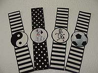 Black & White Birthday theme Wristbands