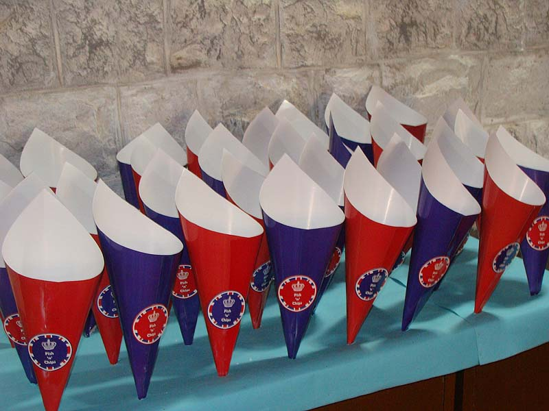 British Birthday theme Popcorn Cones