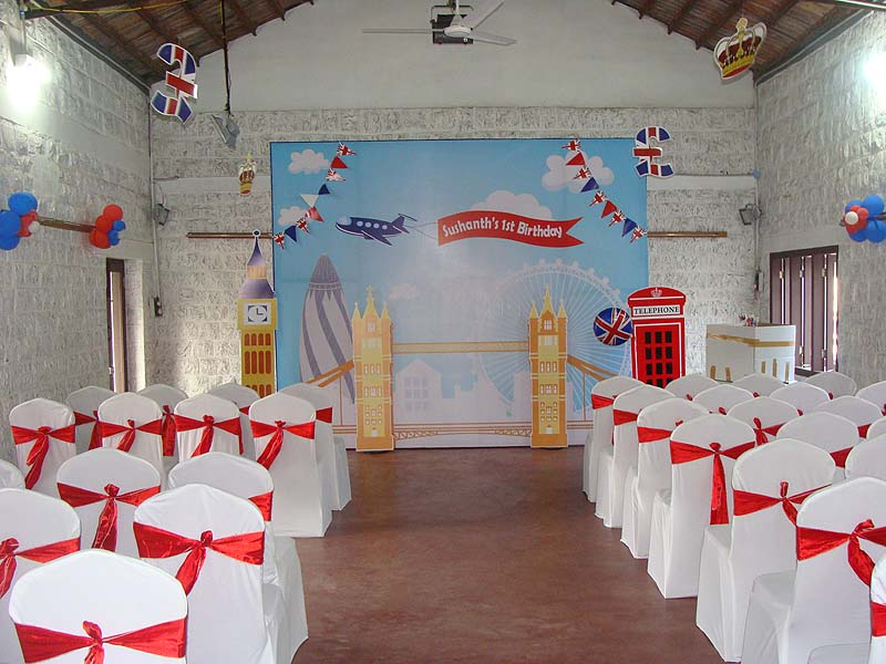 British Birthday theme Backdrop