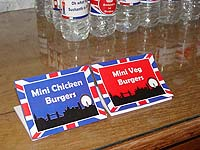 British Birthday theme Food labels