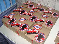 British Birthday theme Favour boxes