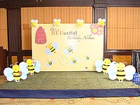 Bumble Bee birthday theme Backdrop
