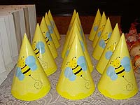 Bumble Bee Hats (Set of 6)