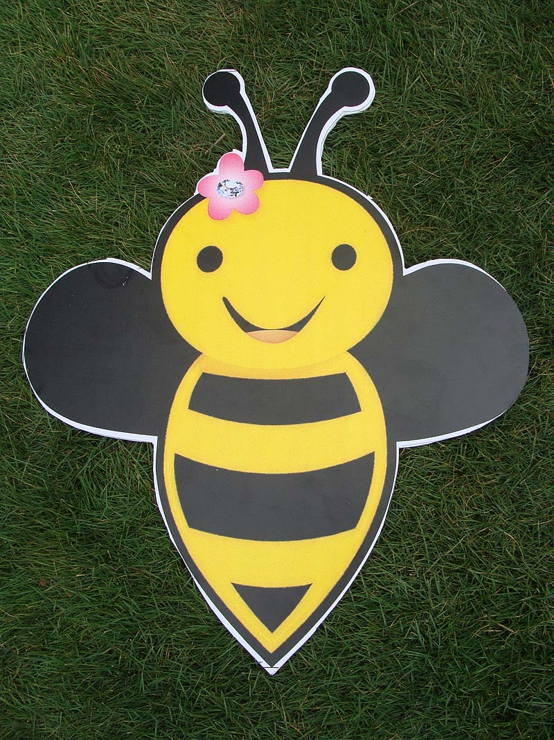 Flying bee poster
