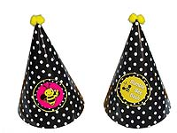 Bumble Bee Polka Hats (Set of 6)