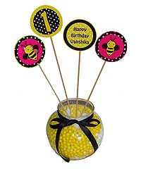 Bumble Bee birthday theme Center pieces