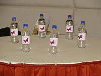 Pink Butterfly Birthday theme Water bottle wrappers