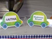 Car Theme Food labels