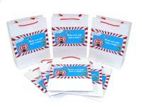 Circus Birthday theme Stickered gift bags