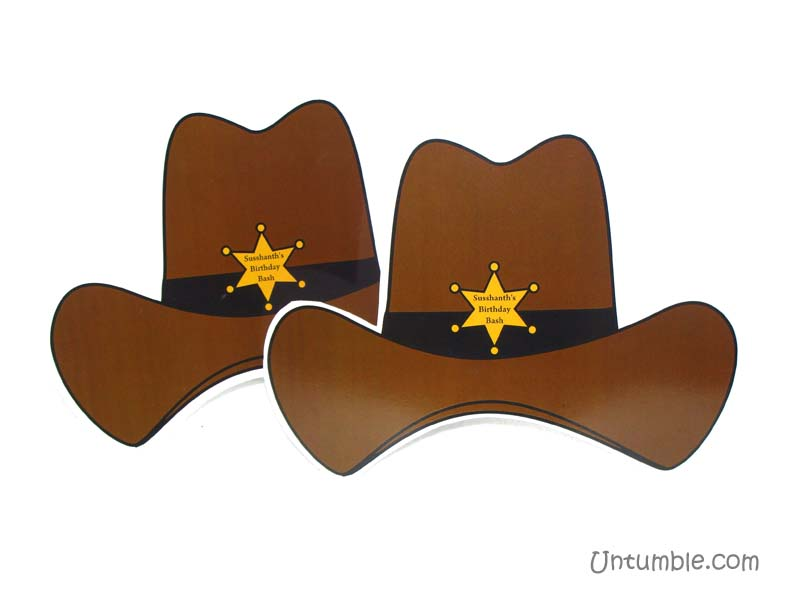 Cowboy Birthday theme Hats