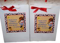 Cowboy Birthday theme Stickered gift bags