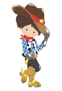 Little cowboy with hat poster