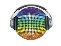 Discoball on headphones cutout