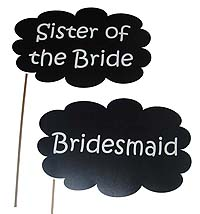 Bridesmaid photo prop