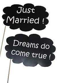 Just married photo prop