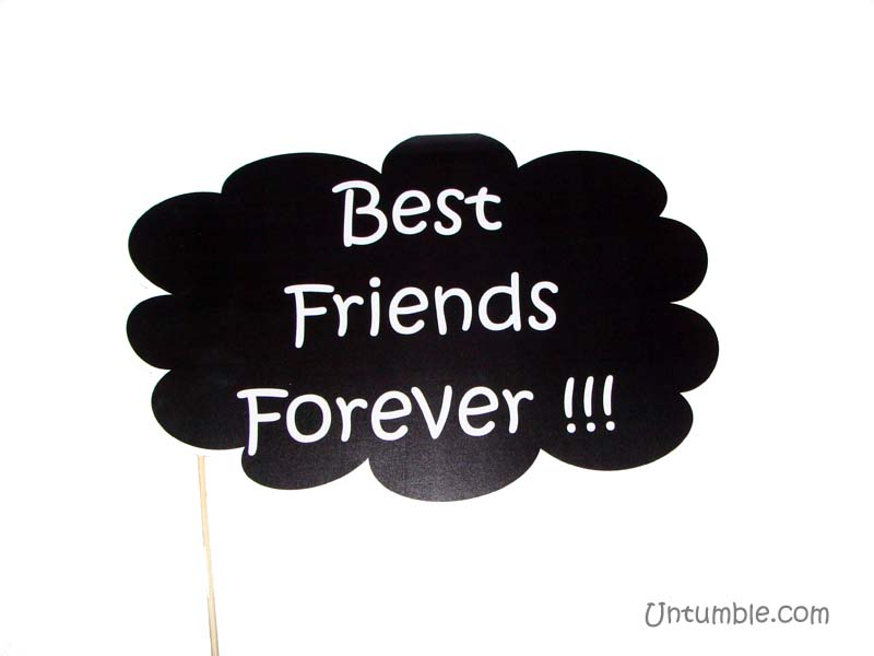 Best friends forever photo prop