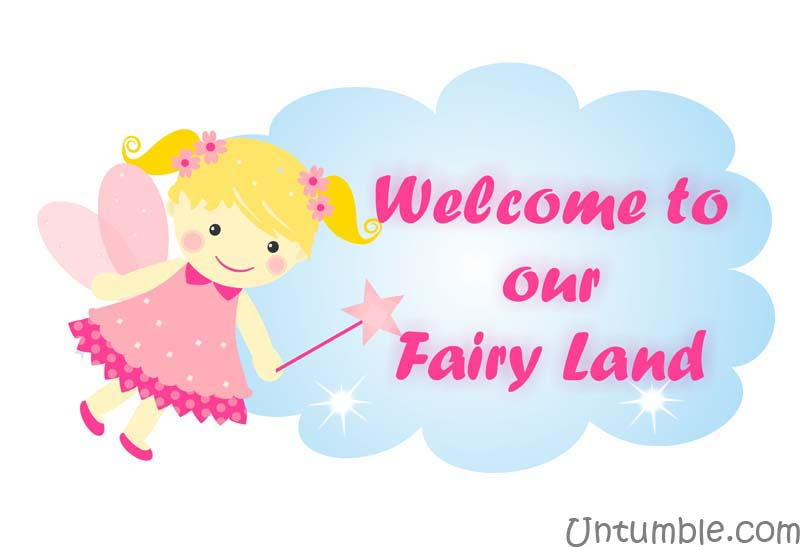 Fairy with cloud poster