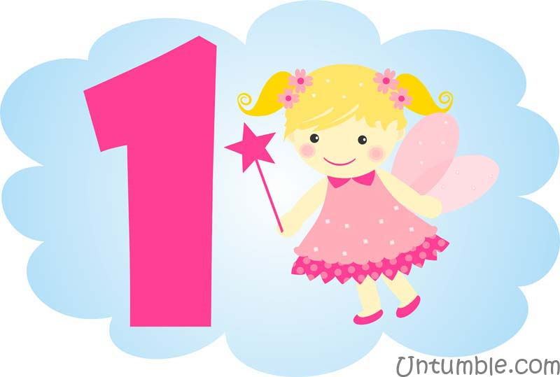 No 1 Birthday pink fairy poster