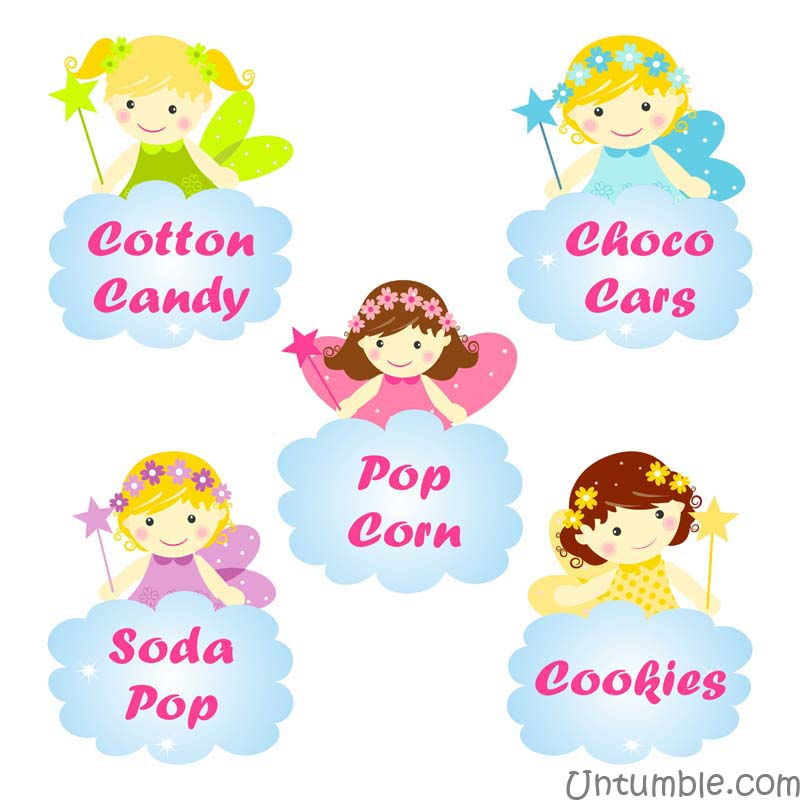 Shaped Fairy food labels