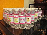 Fairy Princess Birthday theme Water bottle wrappers