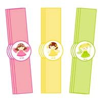 Fairy Princess Birthday theme Wristbands