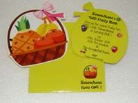 Fruits theme birthday Custom invitations