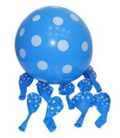 Blue & white polka balloons (Pack of 20)