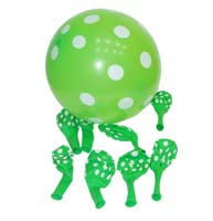 Green & white polka balloons (Pack of 20)