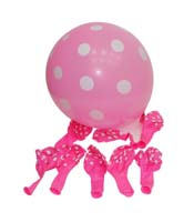 Pink & white polka balloons (Pack of 20)