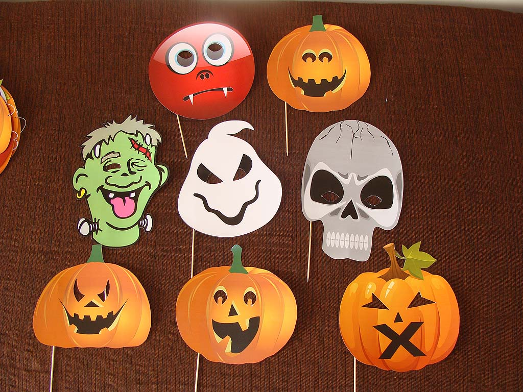 Halloween Decor theme Photo Booth Props