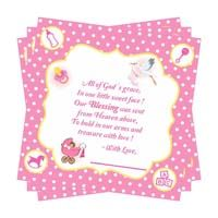 Baby Pink Thank you card