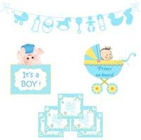Baby Boy Announcement kit