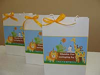 Jungle Safari Birthday theme Stickered gift bags