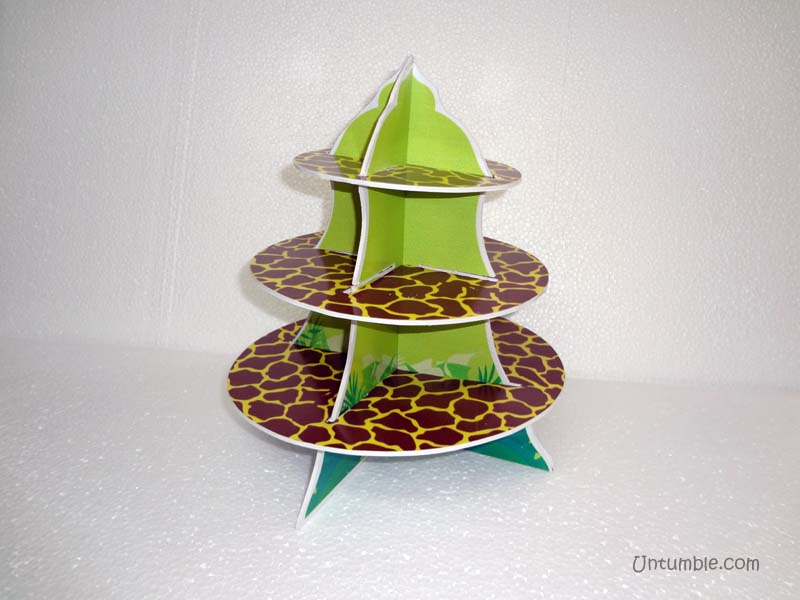 Jungle Birthday Supplies theme Cup cake stands