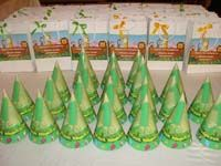 Jungle Birthday hats (Set of 6)