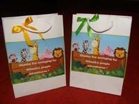 Jungle Birthday Supplies theme Stickered gift bags