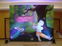 Little Krishna Birthday theme Backdrop
