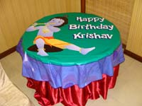 Little Krishna Birthday theme Table covers