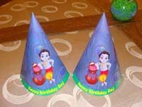 Little Krishna Birthday theme Hats